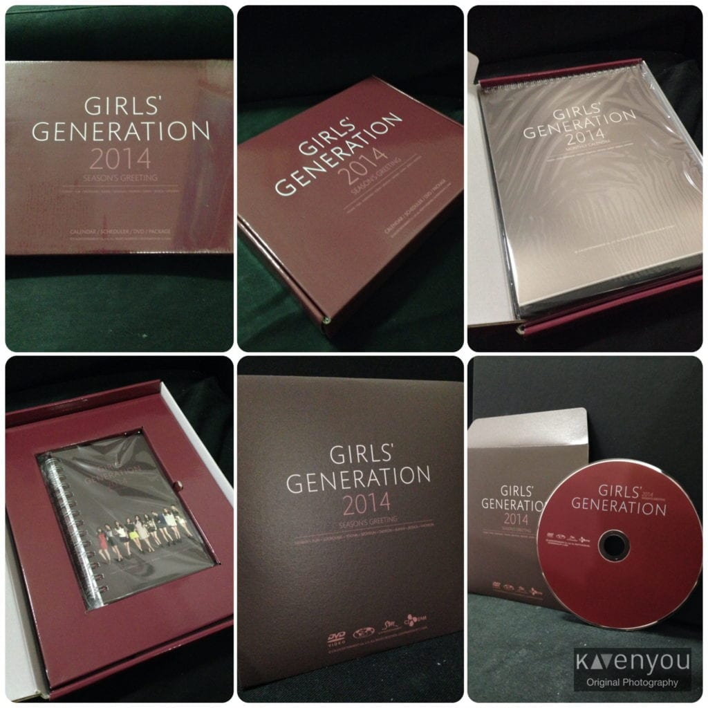 Unboxing of Girls' Generation 2014 Season's Greeting - Calendar, Scheduler and DVD