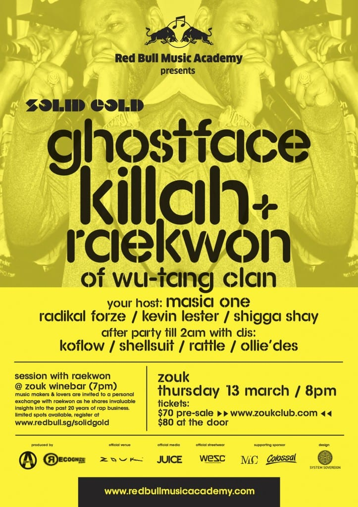 Red Bull Music Academy_SOLID GOLD_Raekwon & Ghostface Killah of Wu-Tang Clan_Poster