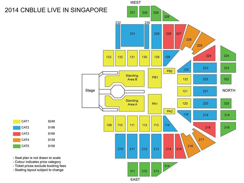 CNBLUE 2014 seating plan