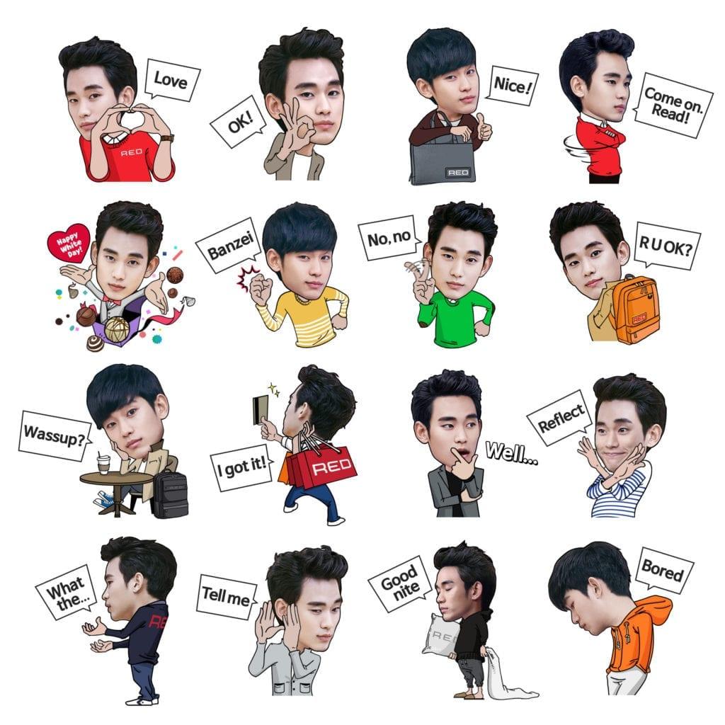 Kim Soo Hyun x Samsonite LINE stickers