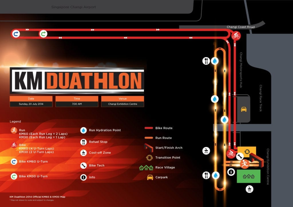 KM Duathlon Map