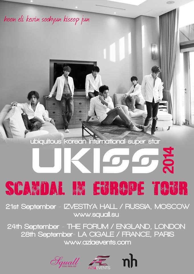 U-Kiss European tour poster
