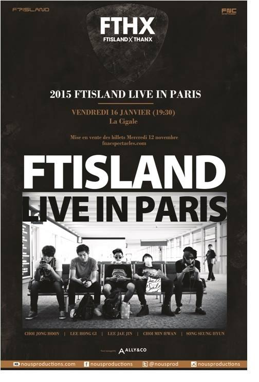 FT Island in Paris - poster