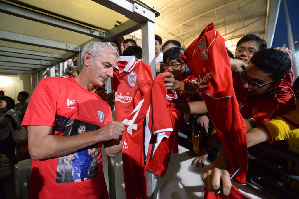 Liverpool legend Ian Rush signs autographs for fans