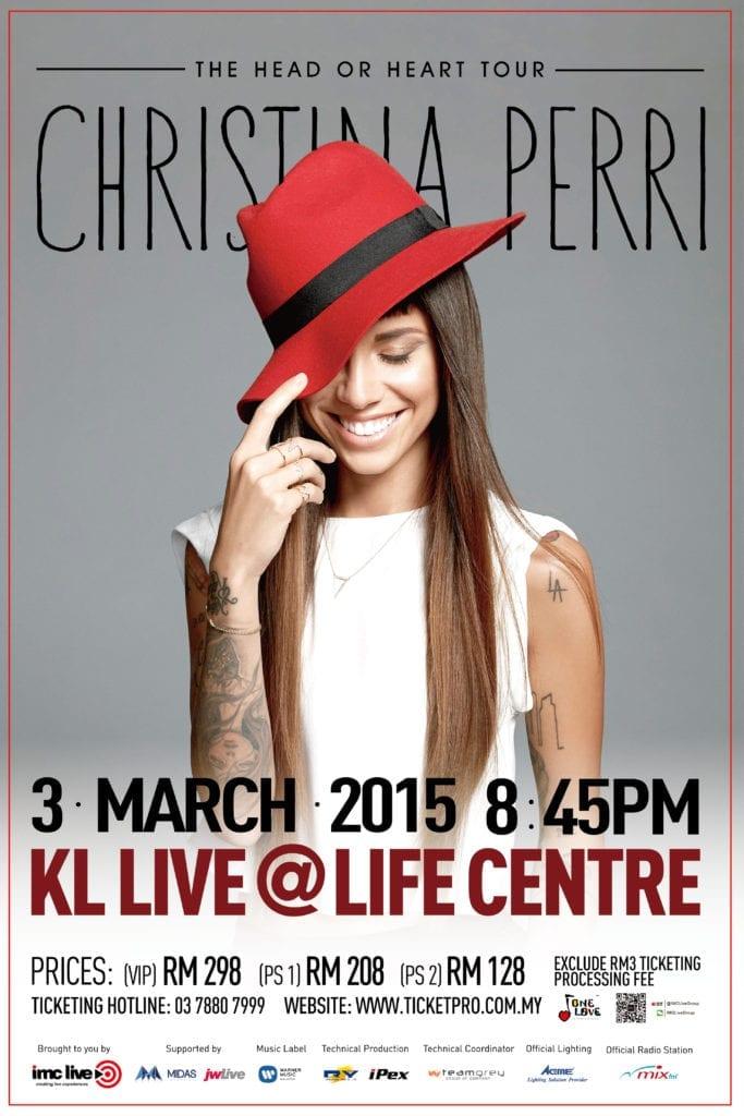 Christina Perri -The Head  or Heart Tour - Malaysia