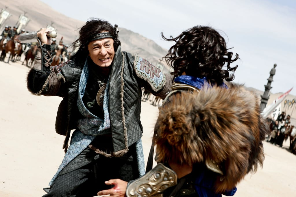 The deadly duel between Jackie Chan and Adrien Brody (r)