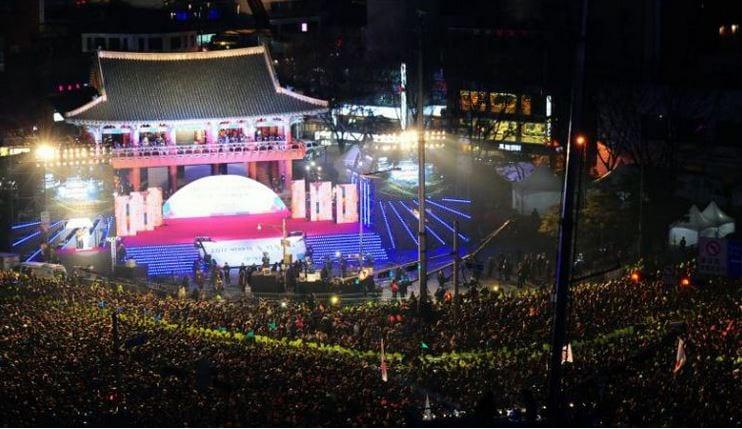Celebrating New Year Countdown in the Korean way
