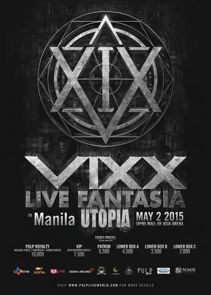 VIXX Live Fantasia in Manila: Utopia Tour 2015