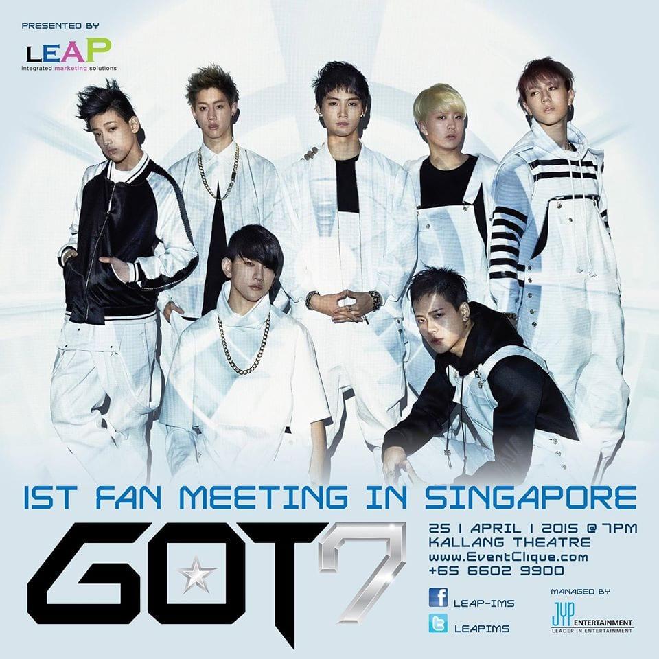 GOT7 1st Fan Meeting in Singapore