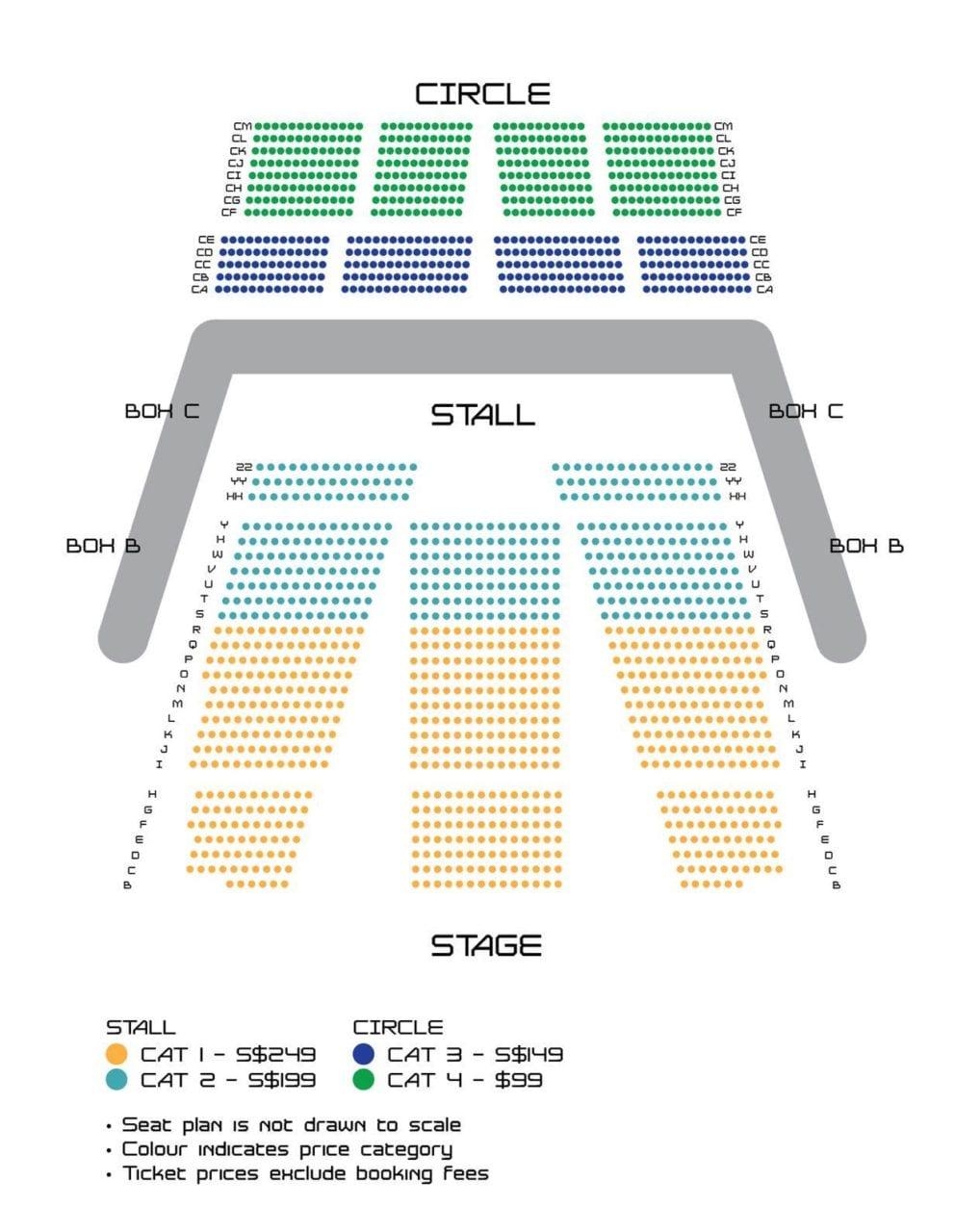 GOT7 Singapore Seating Plan