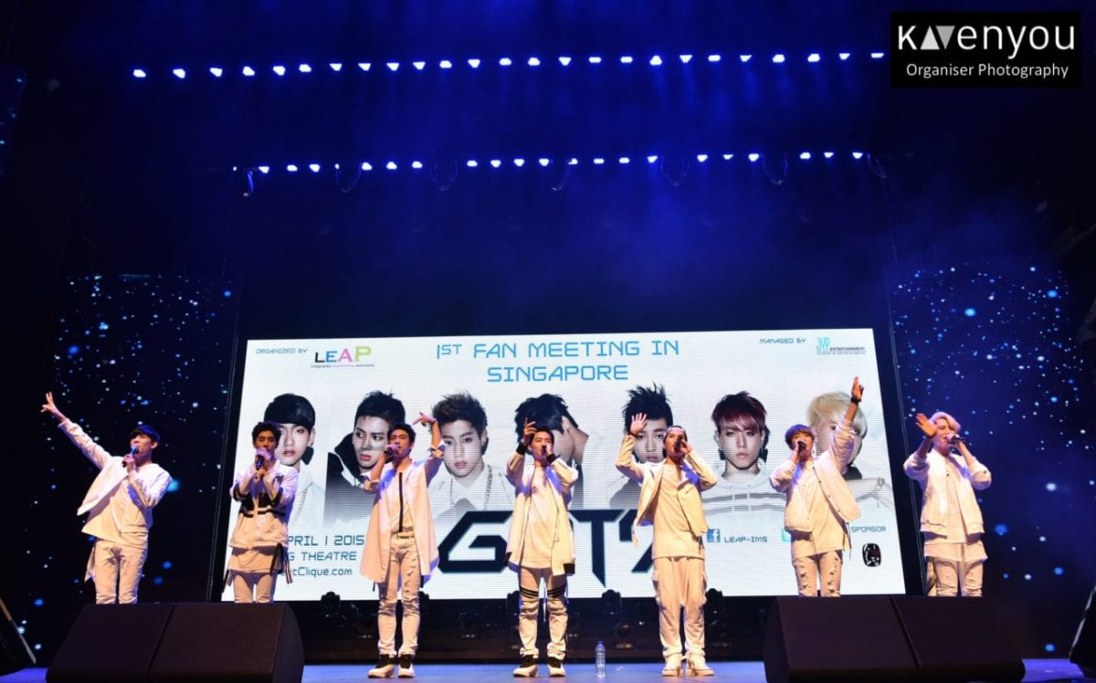 Every lady wants a piece of Got7 at their first Fan Meeting in Singapore!