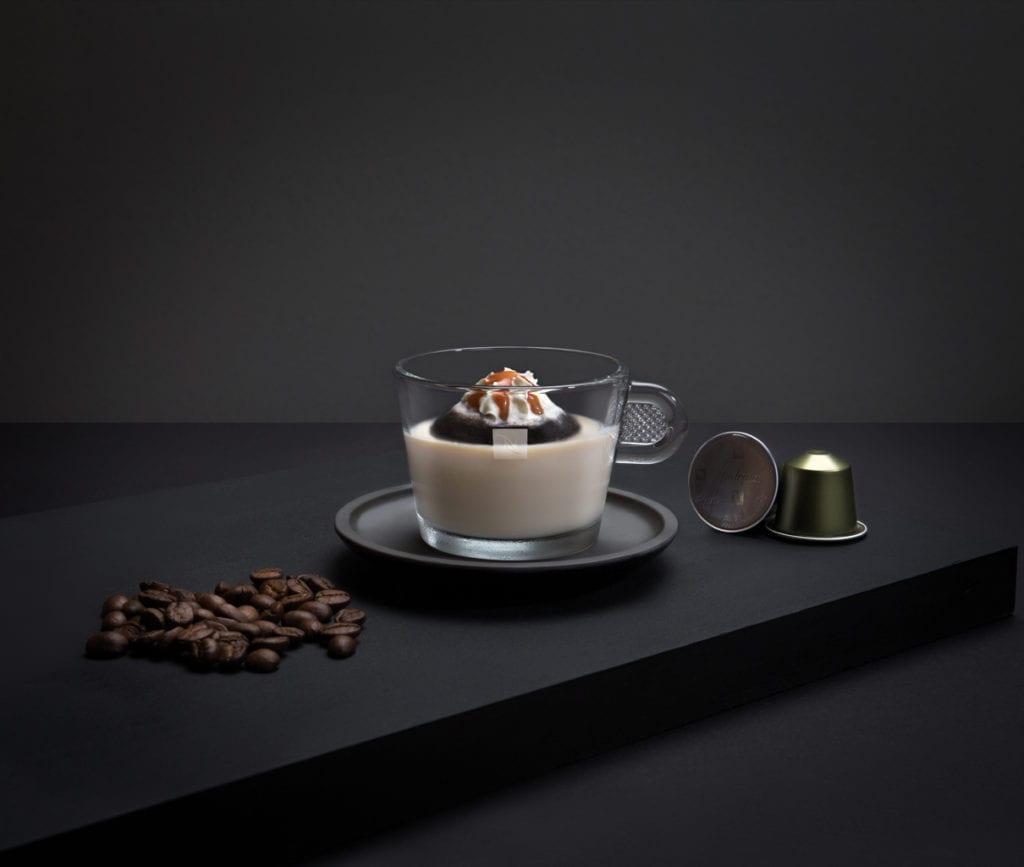 Reverse Affogato with Coffee Granita