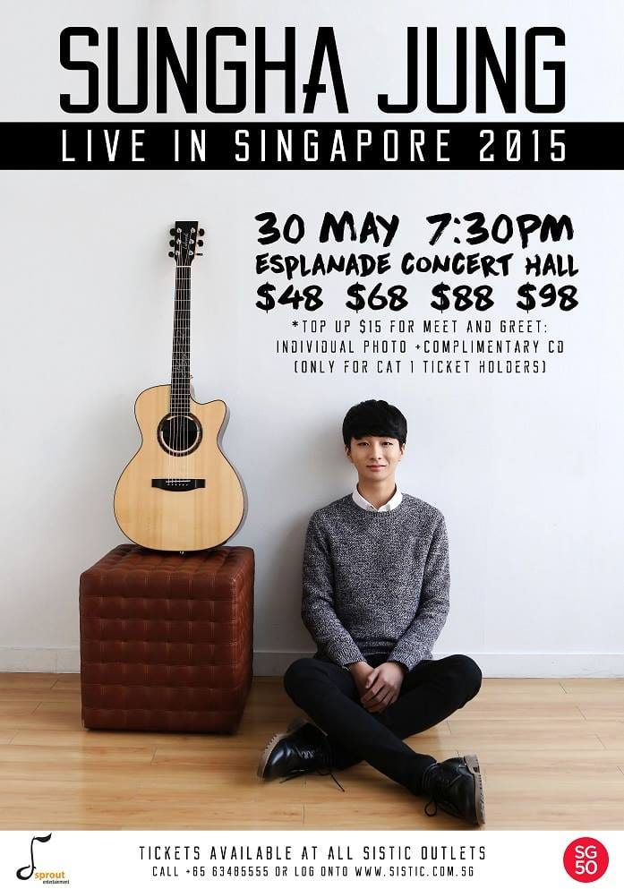 Sprout Entertainment Proudly Presents Sungha Jung Singapore 50th Anniversary Concert
