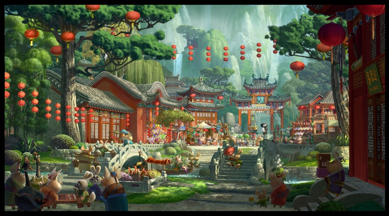 Kung Fu Panda (2008) by artist Richie Sacilioc © 2014 DreamWorks Animation LLC. All Rights Reserved