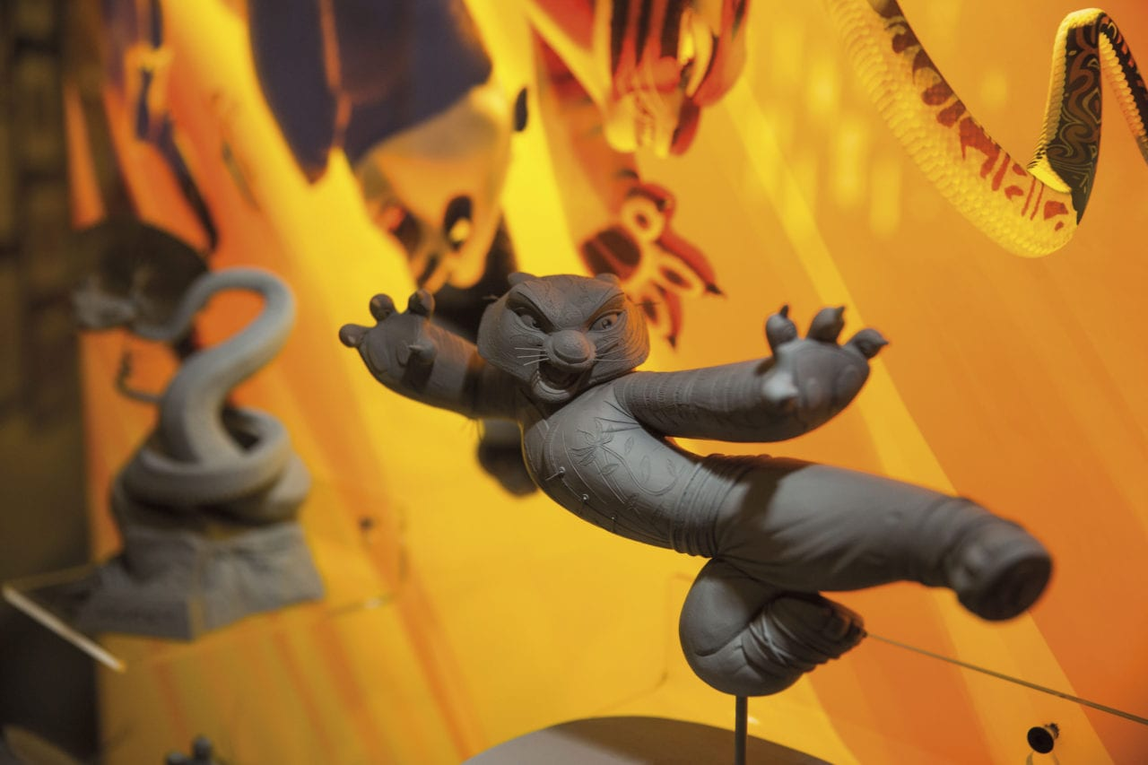 Maquette of Tigress from Kung Fu Panda at exhibition. (Photo Credits: Andrew Morley)