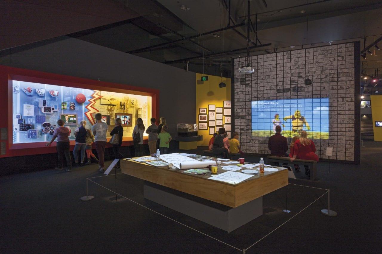Reconstruction of DreamWorks' real-life workspaces. (Photo Credits: Mark Ashkanasy)