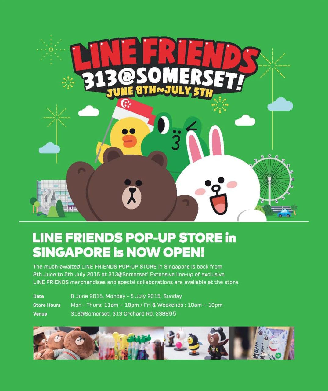 line pop up store singapore 2015