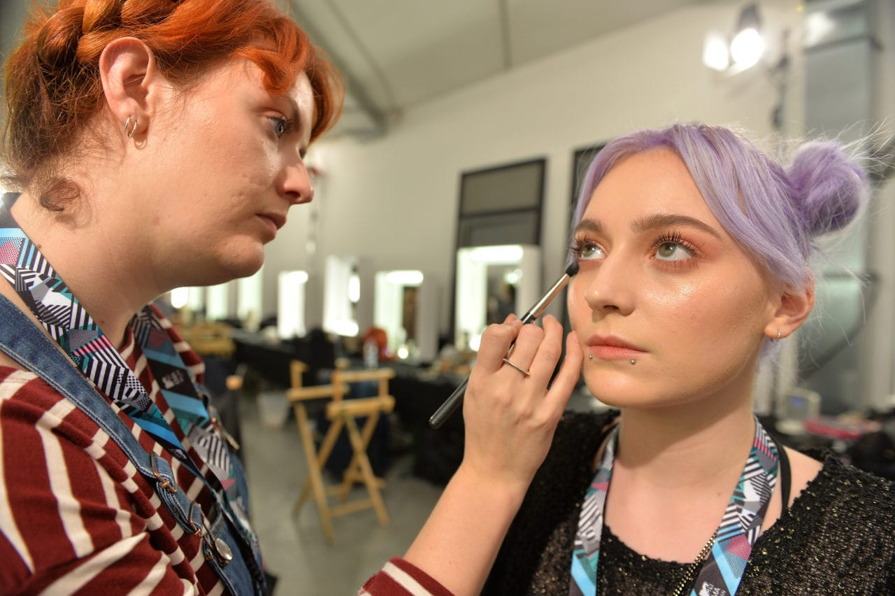 MILAN, ITALY - OCTOBER 23: A general view in Hair and Make Up ahead of the MTV EMA's 2015 on October 23, 2015 in Milan, Italy. The awards take place on Sunday October 25th. (Photo by Anthony Harvey/MTV 2015/Getty Images for MTV)