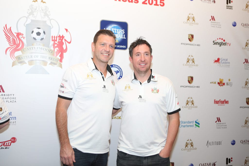 Full team lists revealed as Robbie Fowler and Lee Sharpe meet ahead at The Castlewood Group Battle Of The Reds press conference