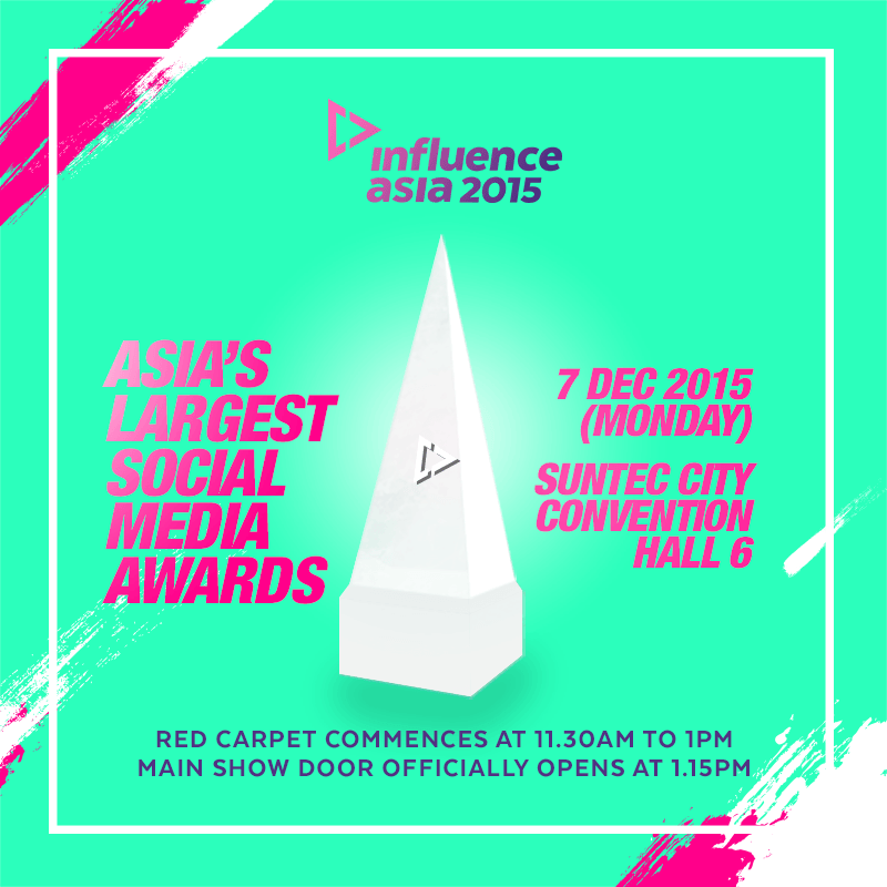 Redfoo & SNSD's Tiffany to present awards at Influence Asia 2015 in Singapore