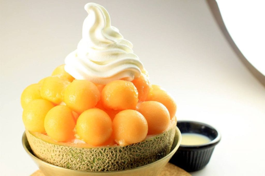 Melon and milk bingsoo. Image credits: Snowman Desserts Facebook Page
