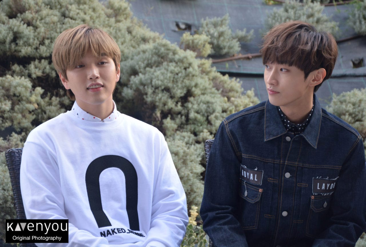 Jinyoung and Sandeul in Madrid