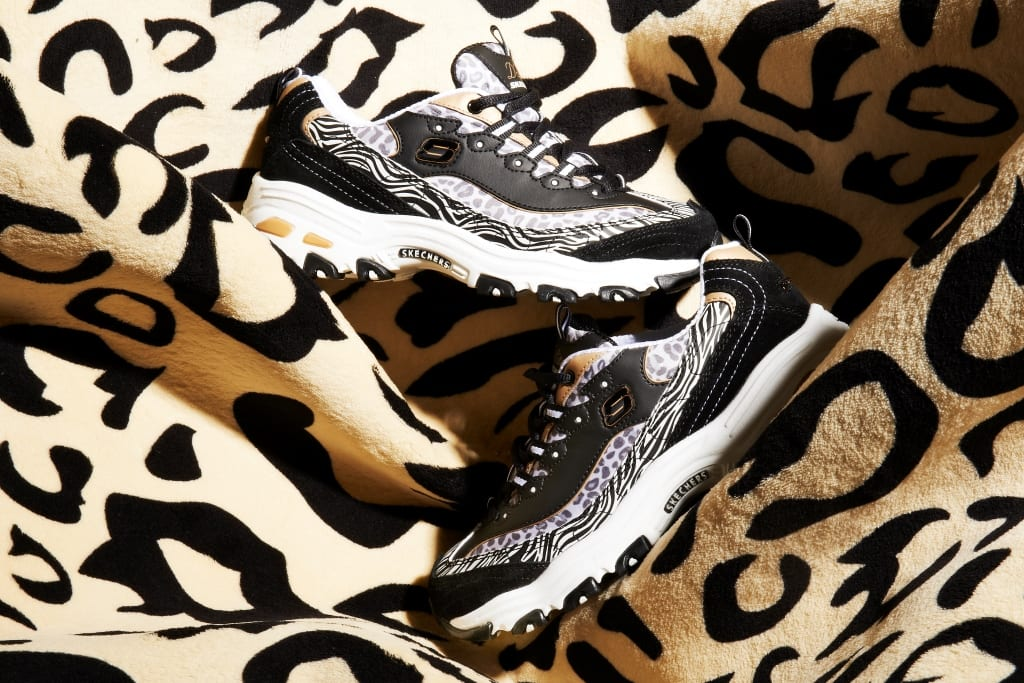 skechers d lites animal print