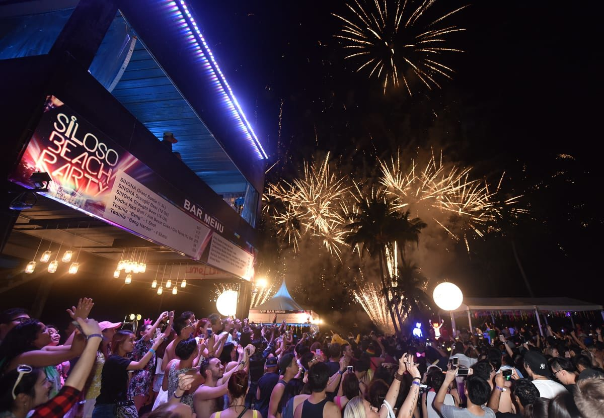 More than 12,000 partygoers count down to the New Year at Siloso Beach Party