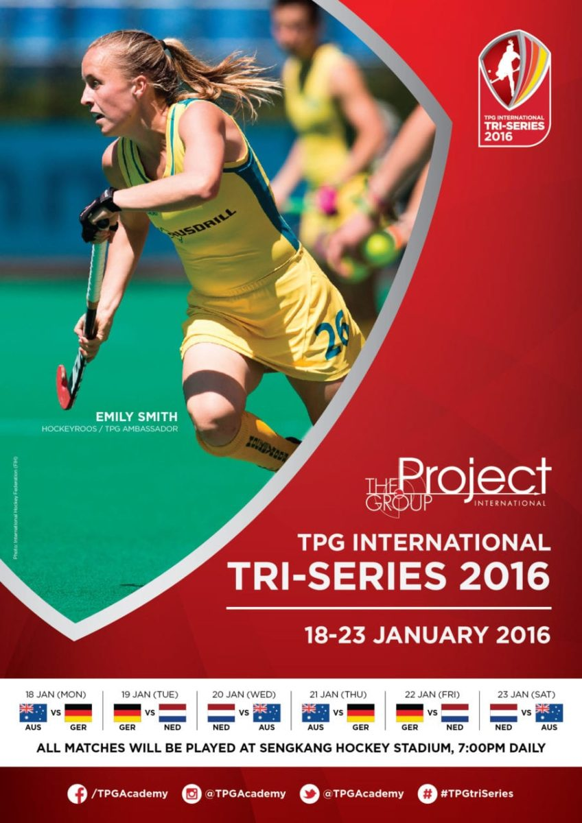 Watch three top field hockey teams in Singapore for inaugural TPG International Tri-series