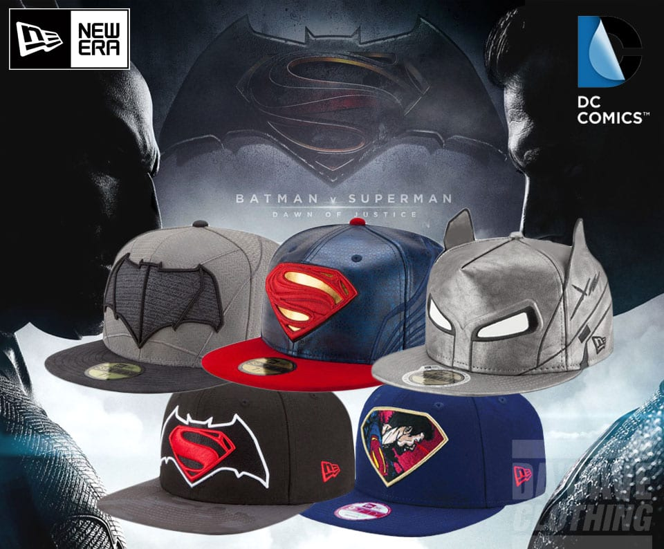 f2313b6a647 superman-batman-new-era f Batman v Superman Dawn of Justice Character Armor  59Fifty Fitted Hat ...