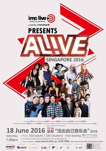 [EVENT] AL!VE Singapore 2016 set to take place on 18th June featuring MICappella, Ferlyn G and more!