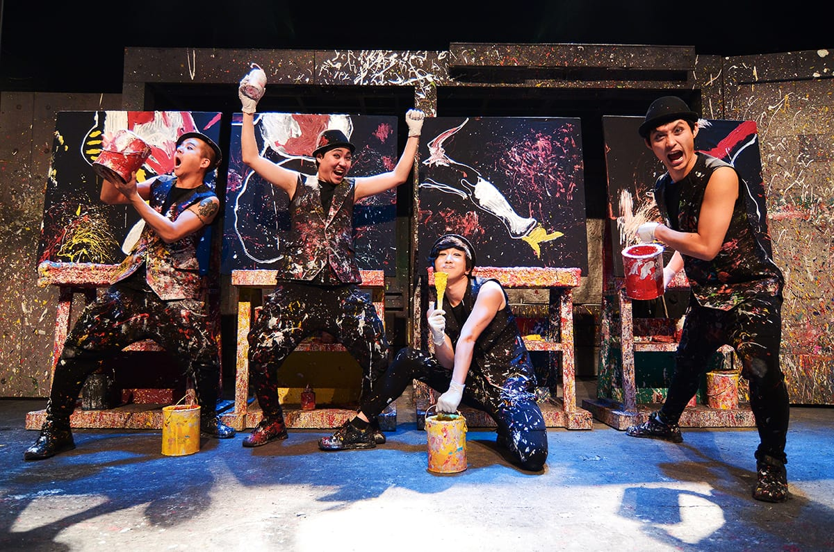 The Painters Having Fun With Action Painting (Photo Credits: Pentatonic.Inc)