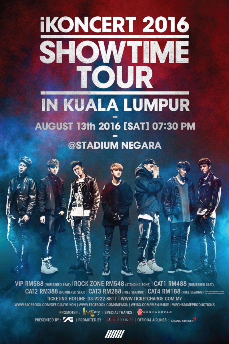 iKON – iKONCERT 2016 [SHOWTIME] TOUR IN KUALA LUMPUR