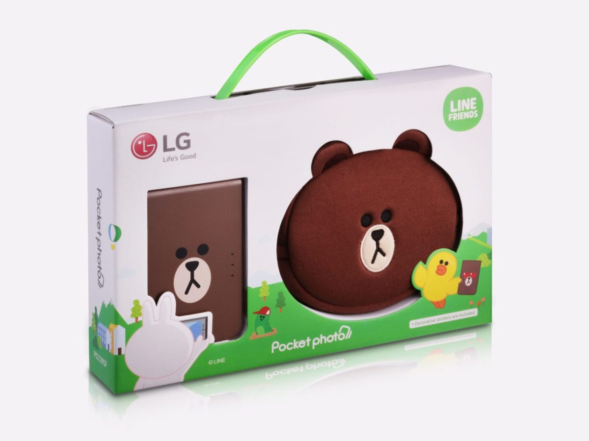 LG's Pocket Photo with Line Characters!