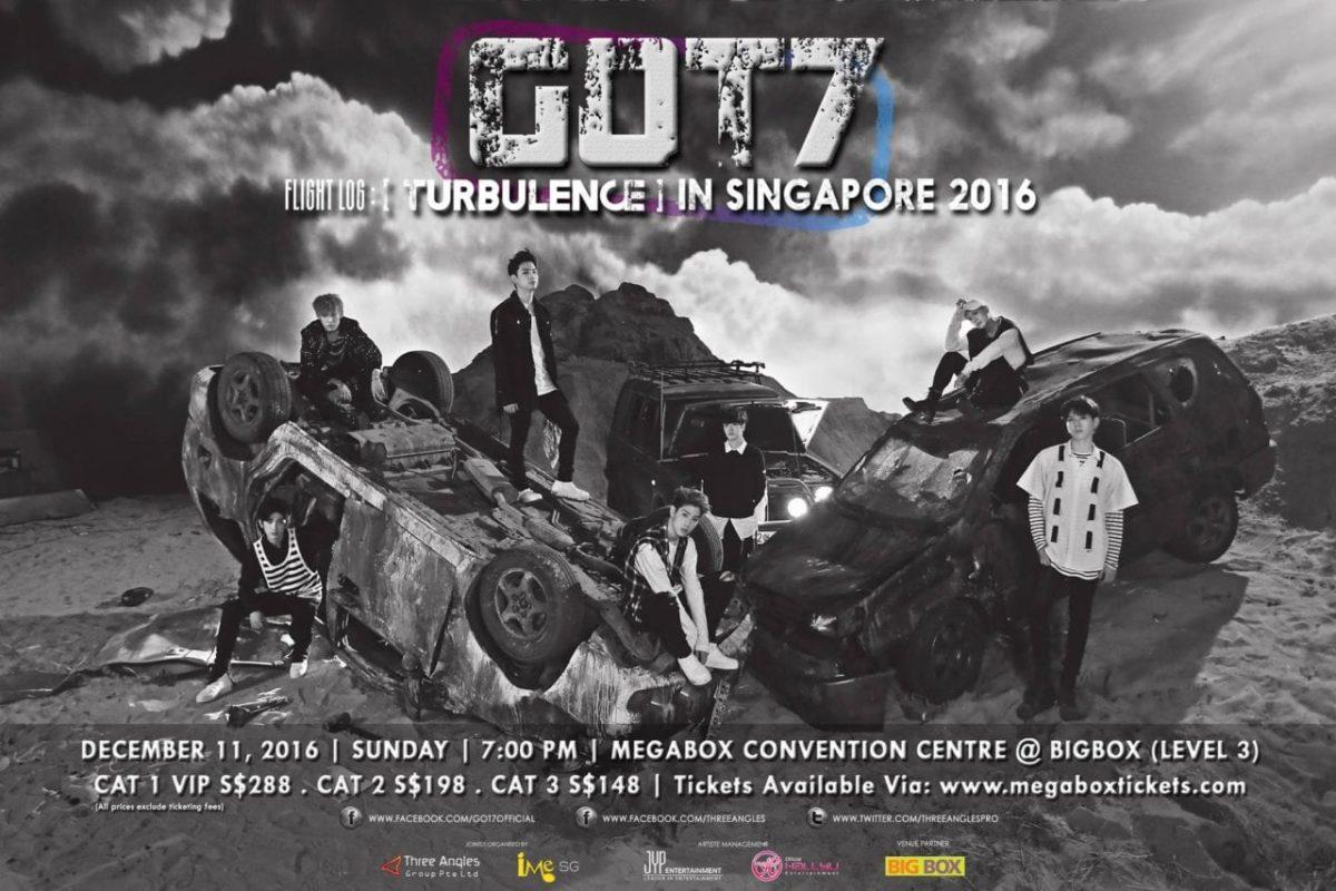 [EVENT] GOT7 Flight Log: Turbulence in Singapore 2016!