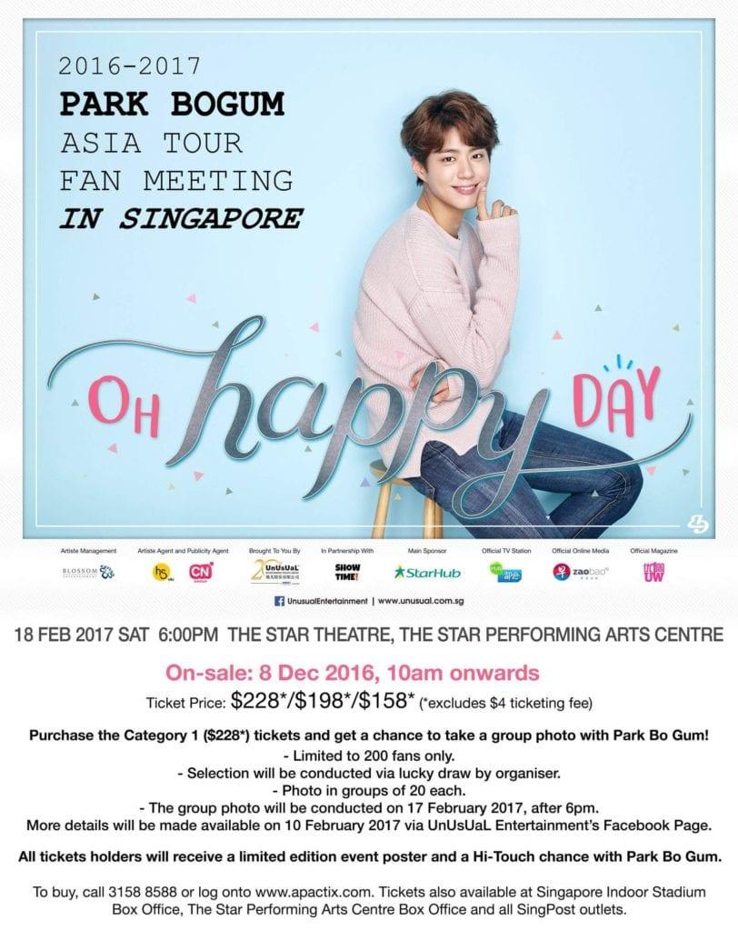 Park Bo Gum Singapore