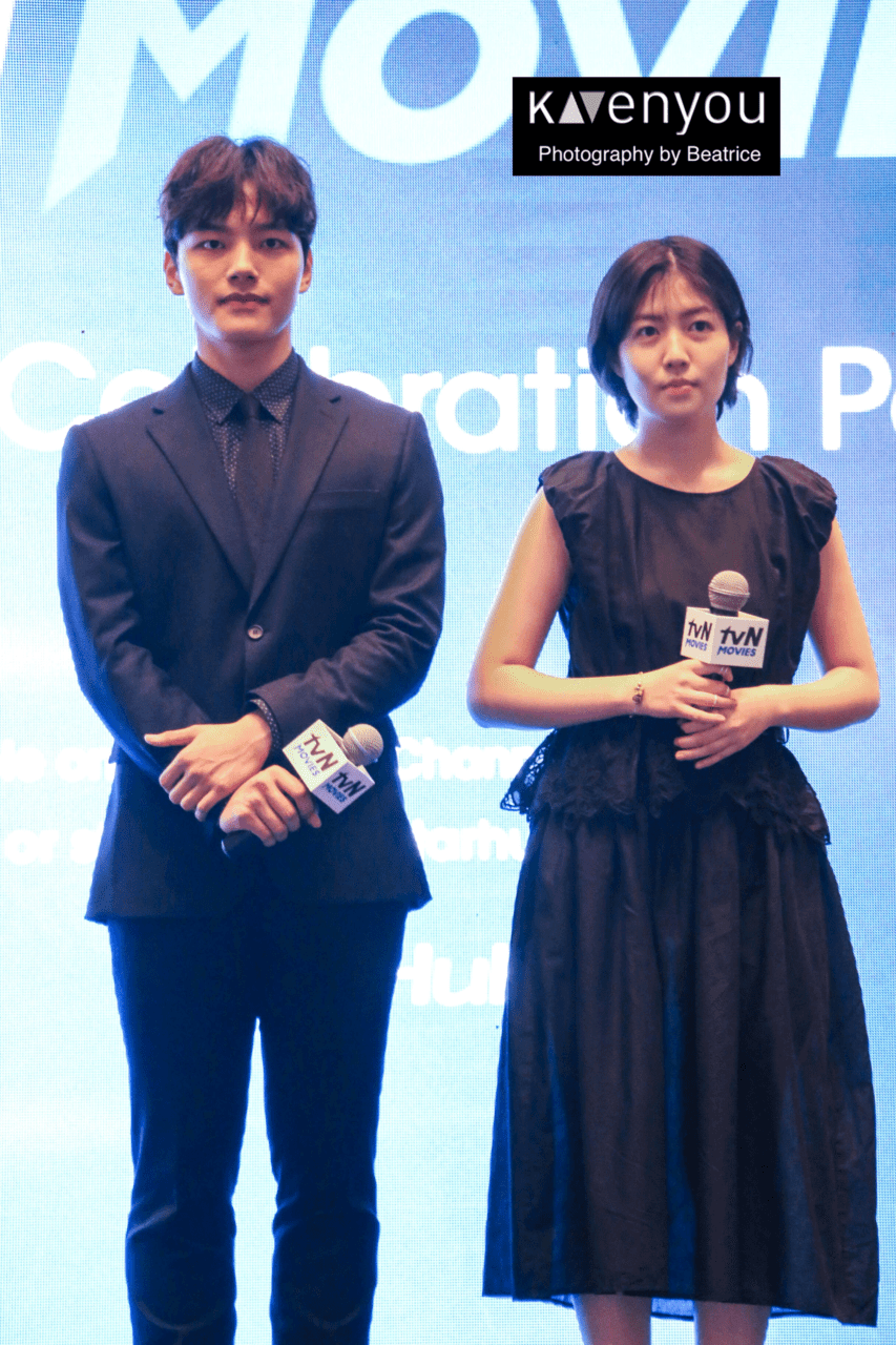 [COVERAGE] Yeo Jin Goo and Shim Eun Kyung at tvN's launch in Singapore