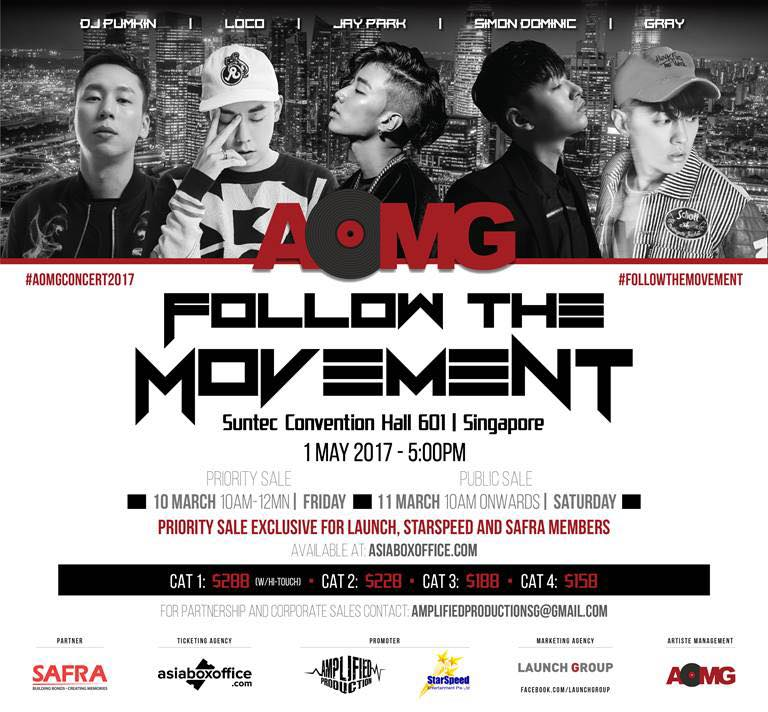 [EVENT] AOMG Follow The Movement 2017 in Singapore!