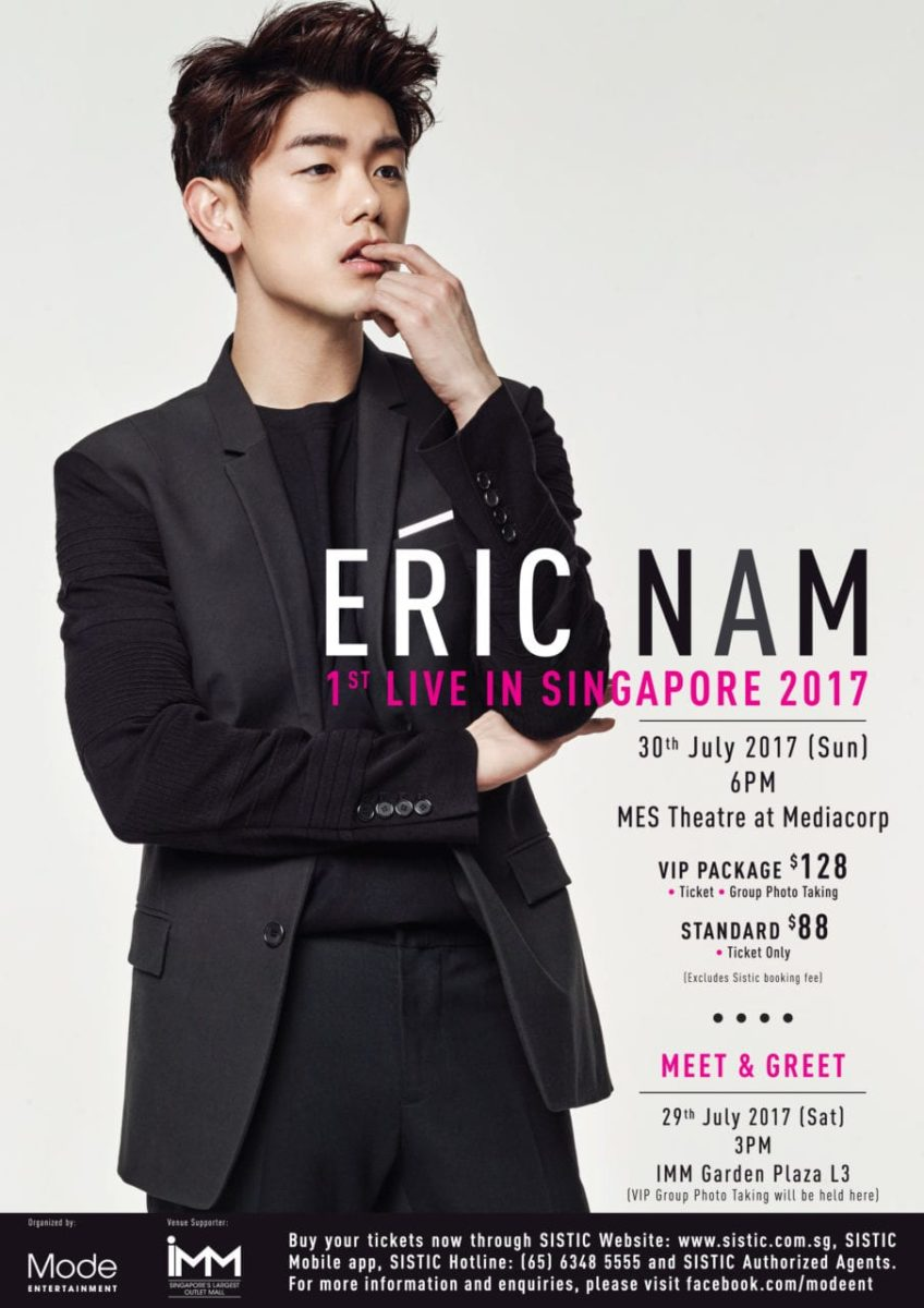 [EVENT] Catch Eric Nam's 1st Live in Singapore this July!