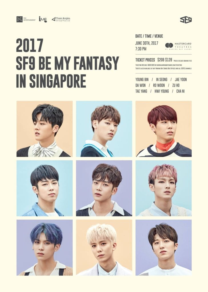 [EVENT] 2017 SF9 Be My Fantasy in Singapore!
