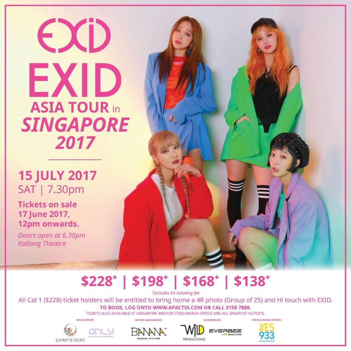 [EVENT] EXID Asia Tour in Singapore 2017!