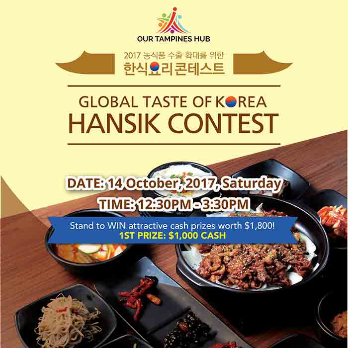 Be the next Korean food cooking champion at the Hansik Contest!