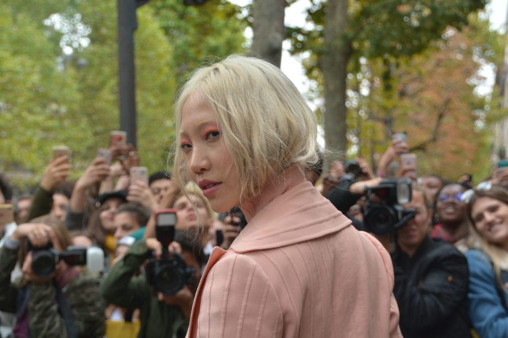 Soo Joo at Paris Fashion Week