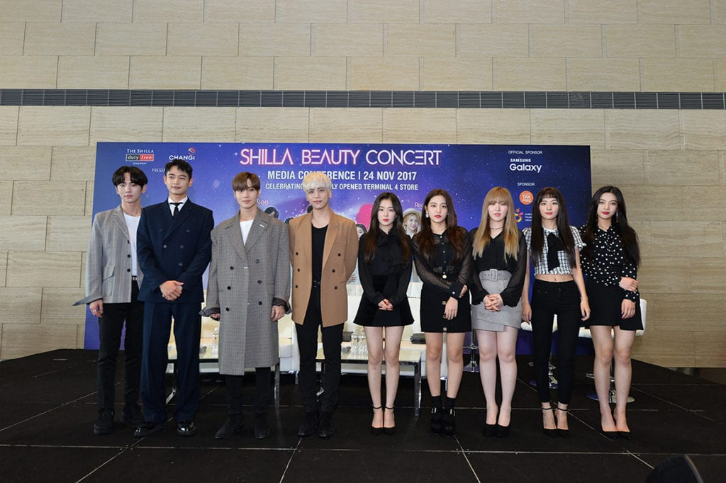 [COVERAGE] SHINee & Red Velvet share beauty tips & dazzle fans at Shilla Beauty Concert