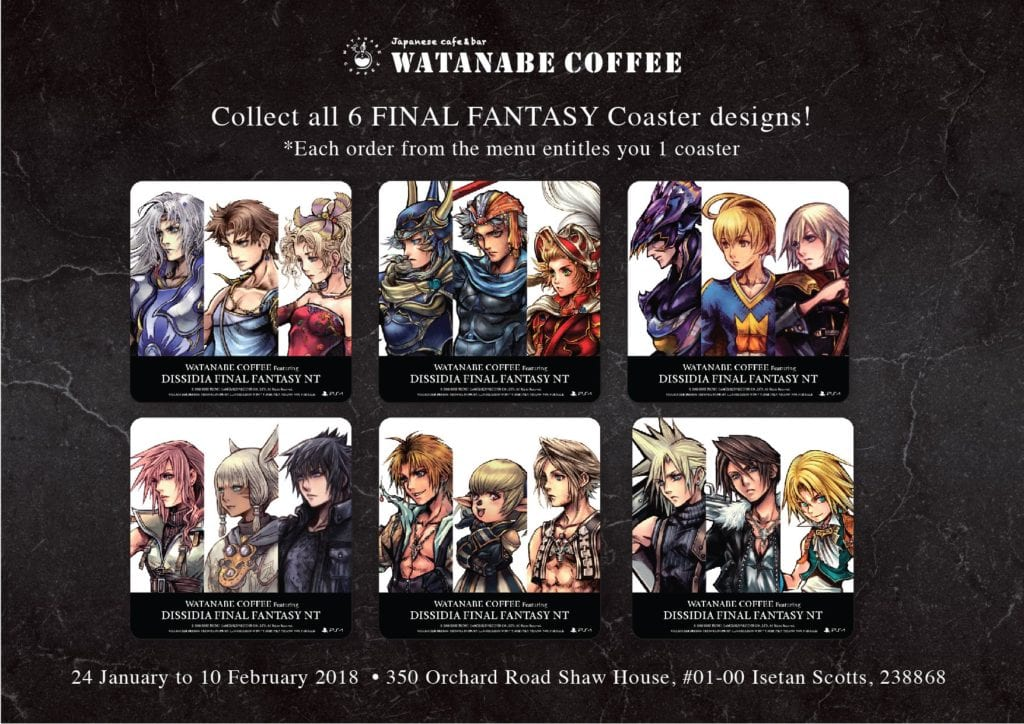 [FOOD] DISSIDIA FINAL FANTASY themed cafe opens in Singapore for a limited time!