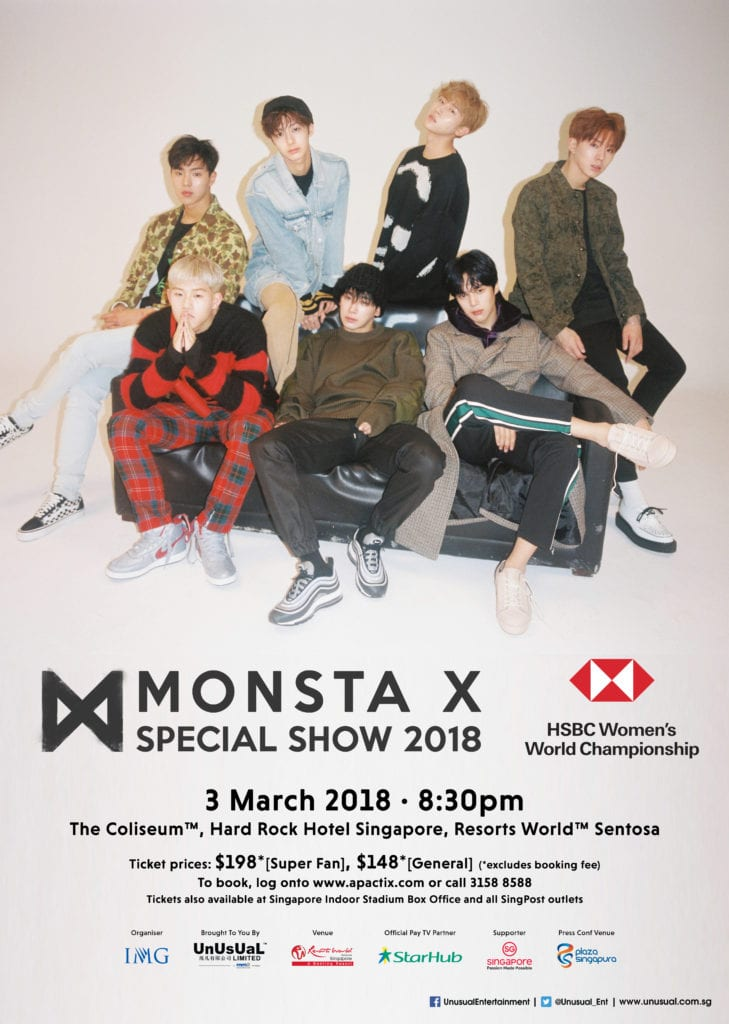 [EVENT] MONSTA X to headline at special show for HSBC Women's World Championship