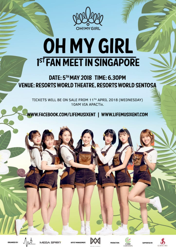 oh my girl fanmeet singapore poster