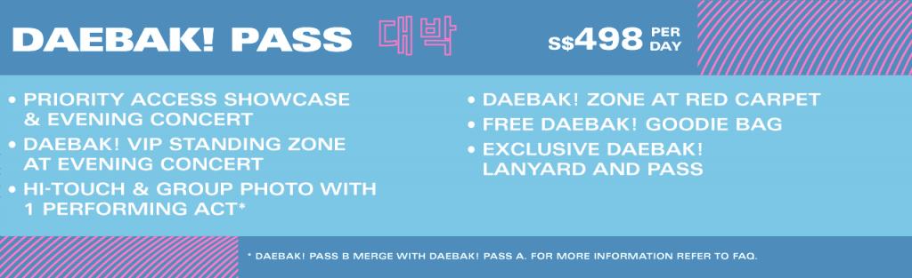 HallyuPopFest 2018 Daebak Pass