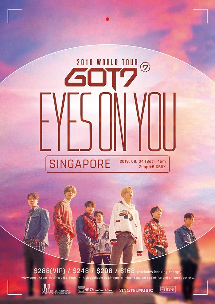 [EVENT] 'Look' out for GOT7 'EYES ON YOU' WORLD TOUR IN SINGAPORE!