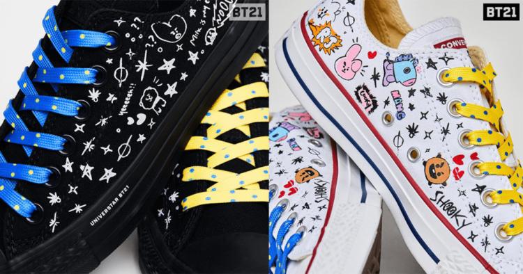 Sneak Peak At BT21 X Converse Sneaker Collection